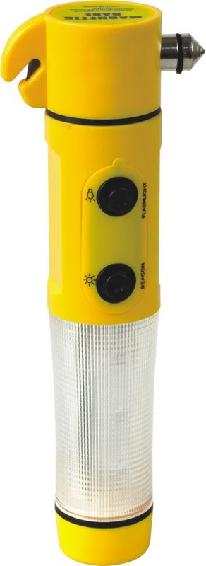 Yellow Rechargeable Automotive Work Light With Emergency Safety Belt Cutter